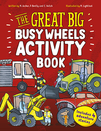 The Great Big Busy Wheels Activity Book Cover