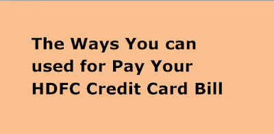 How to pay HDFC Credit Card Bill