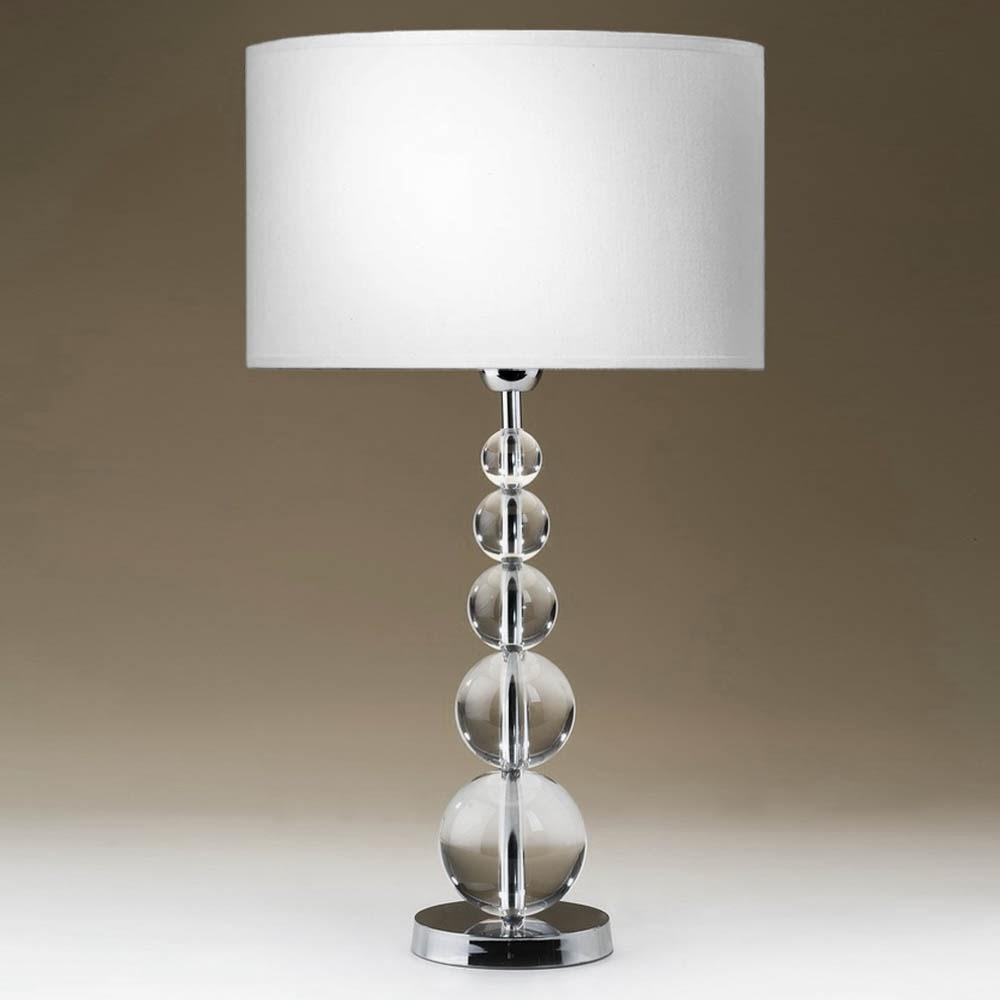 tischleuchten aus glas und kristall. Black Bedroom Furniture Sets. Home Design Ideas
