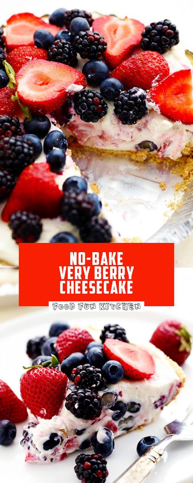 NO BAKE VERY BERRY CHEESECAKE
