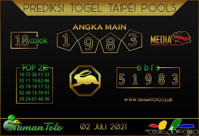 Prediksi Togel TAIPEI TAMAN TOTO 02 JULI 2021
