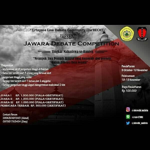 Lomba Jawara Debate Competition Se-Banten 2017
