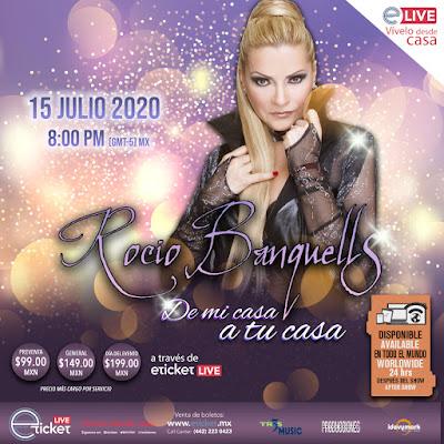 """Rocío Banquells presentará un show vía streaming """"De mi Casa a tu Casa"""""""