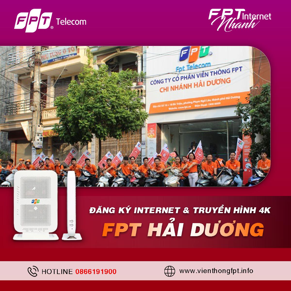Đăng ký Internet FPT Hải Dương - Miễn phí lắp đặt - Trang bị Modem Wifi
