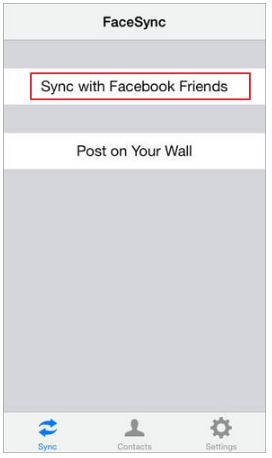 Sync Contacts With Facebook