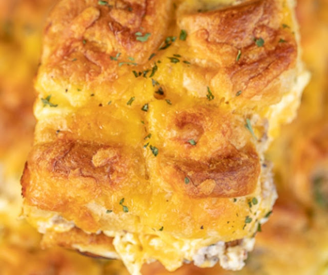 Sausage & Cream Cheese Crescent Caserole