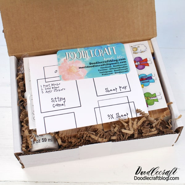 Nativity block set creative craft kit