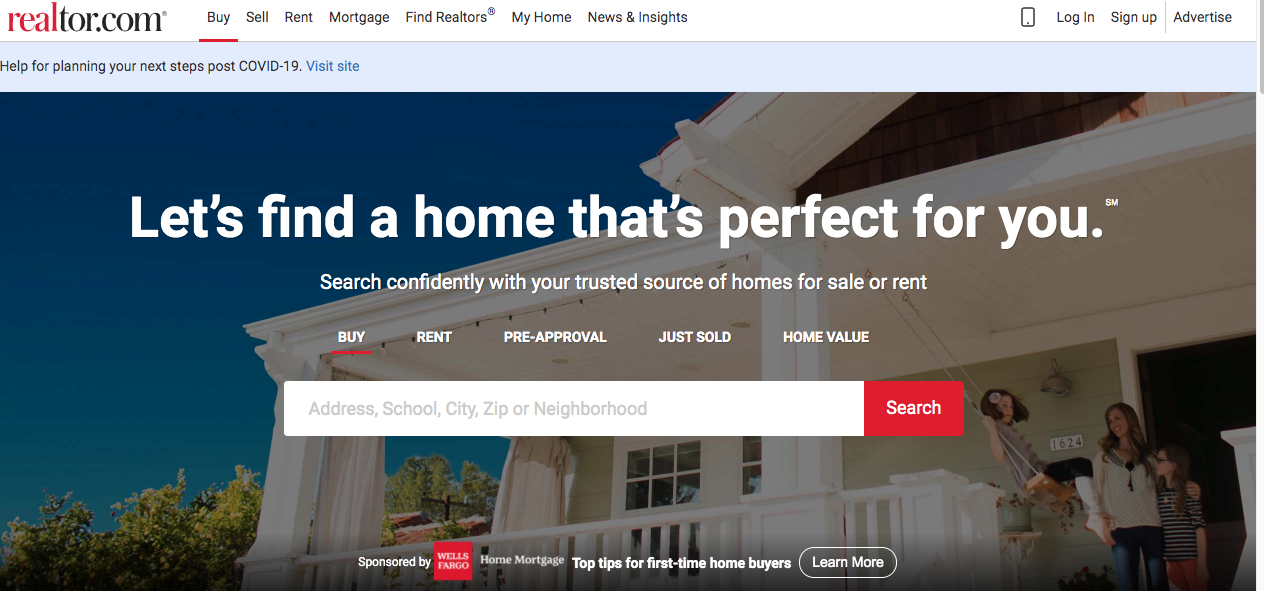 realtor.com house buying website