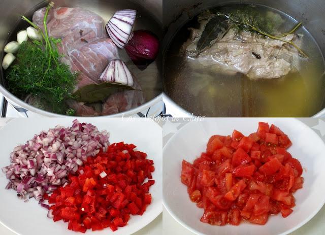 Preparación carne desmechada