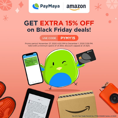 You can use your PayMaya to shop at Amazon.