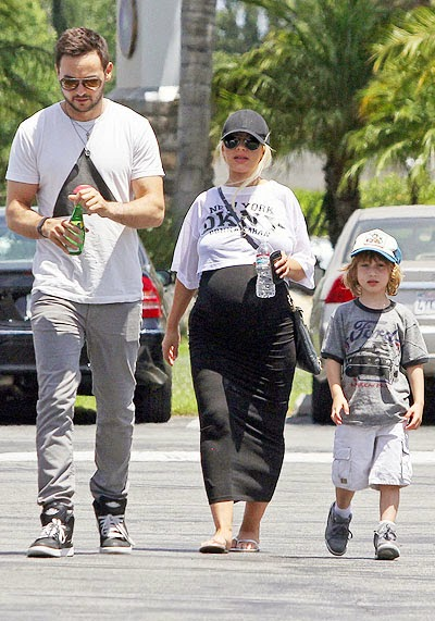 Matt Rattler, Christina Aguilera and Max
