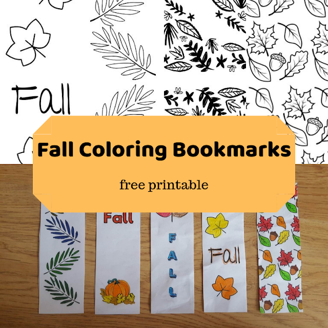 (Free) Printable Fall Coloring Bookmarks