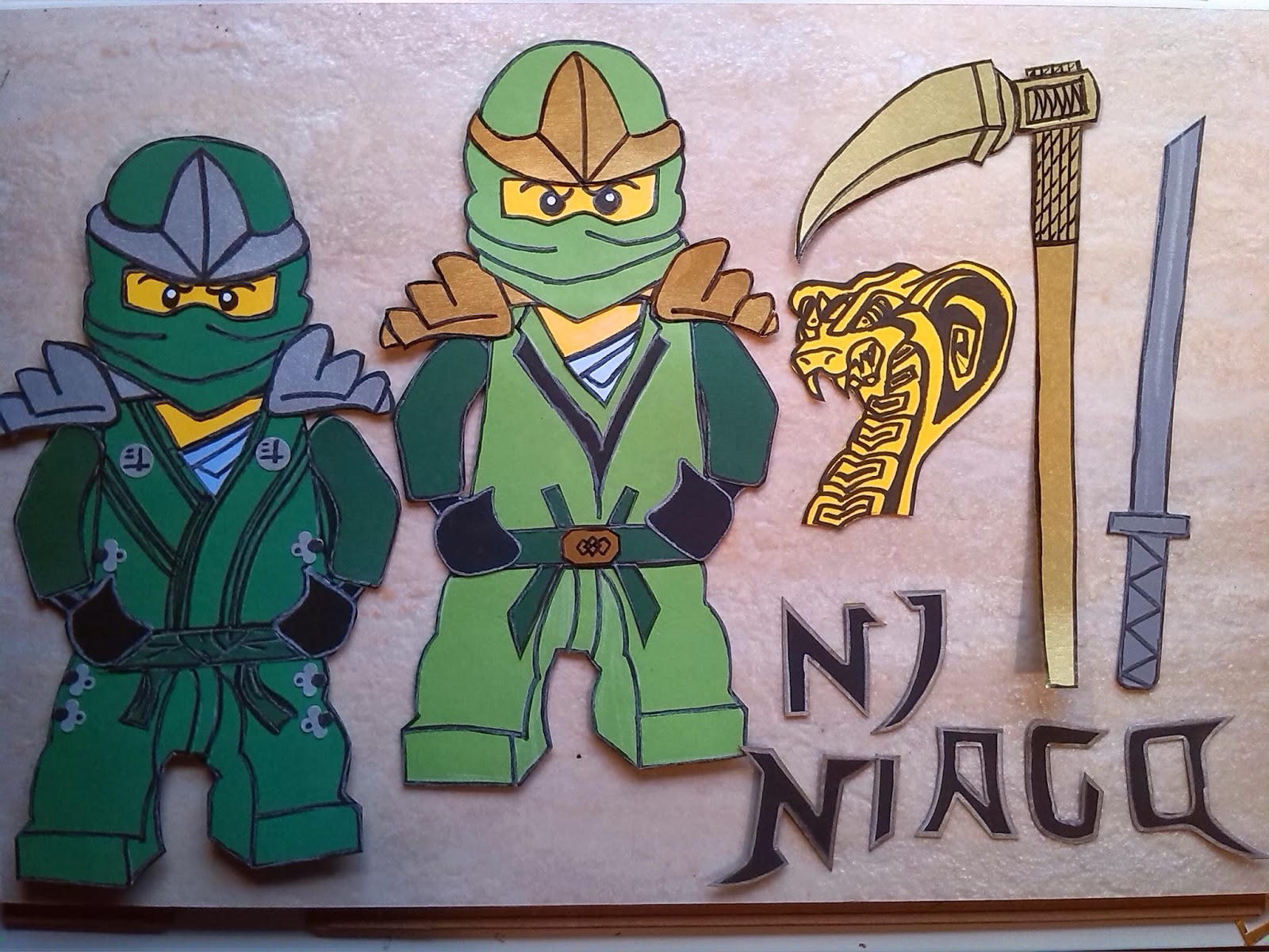 Das creativchen april 2015 for Lego ninjago zimmer deko