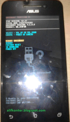 Cara Flash Asus T00g : flash, Zenfone, Cannot, Enter, Droidboot