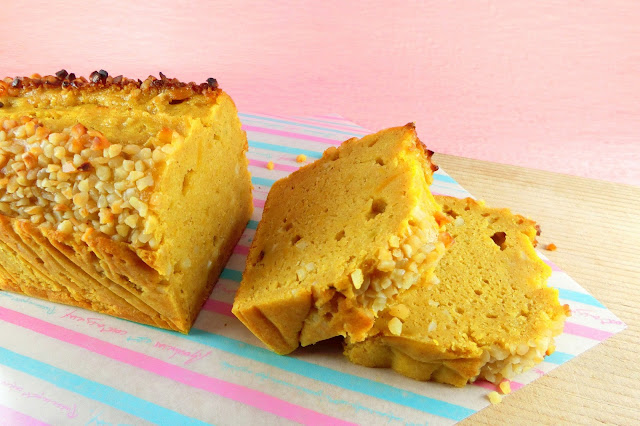 オーブントースターでつくるかぼちゃのパウンドケーキ