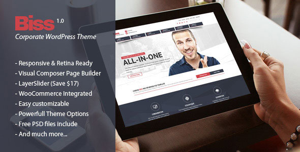 Free Download Biss Corporate Multipurpose WordPress Theme
