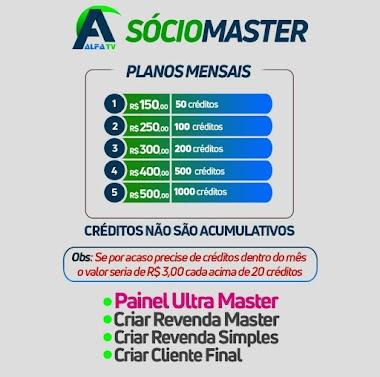 SEJA SÓCIO ALFA TV PLANOS MENSAIS