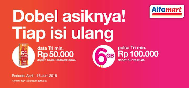 Three selalu saja menyuguhkan kaya promo menarik Promo Paket Kuota Internet Tri 6GB Gratis Terbaru