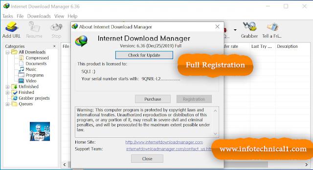 عملاق التحميل  السريع أنترنت داونلود مانجر IDM 6.33 Build 1 مع التفعيل الدائم 2020
