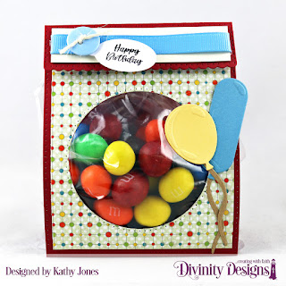 Divinity Designs Stamp Set: Festive Favors Tag Sentiments, Custom Dies: Festive Favors,  Paper Collection: Birthday Bash