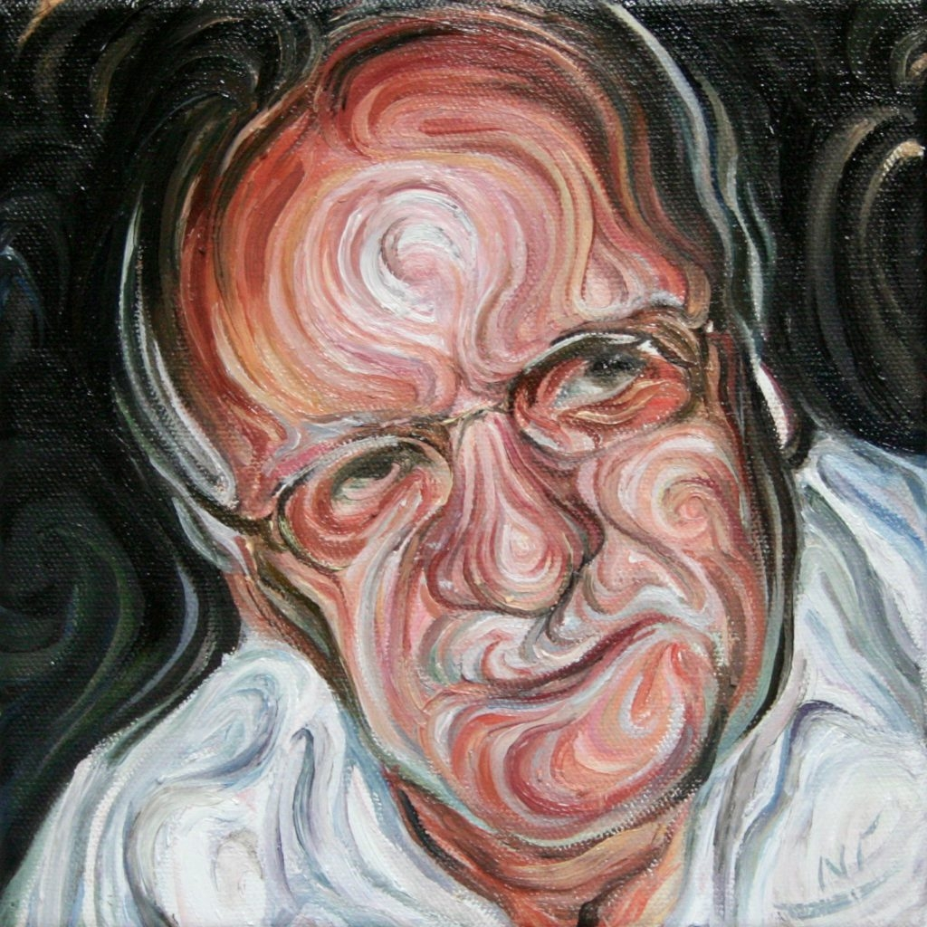 04-Father-Nikos-Gyftakis-Swirls-of-Colors-and-Shapes-used-in-Portrait-Paintings-www-designstack-co
