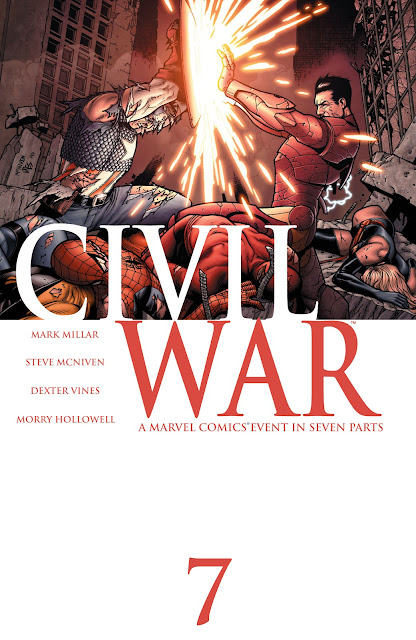 Official Poster of Marvel's Civil War Issue #7 written by Mark Millar from Marvel Comics at Igor11 Comics