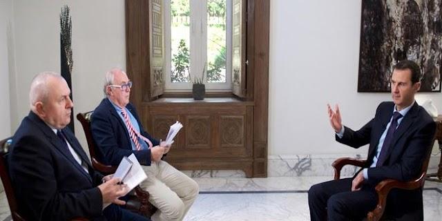 President al-Assad speaks to AFP on Syrian and regional developments