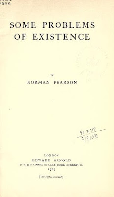 Some problems of existence by Pearson, Norman Free PDF book 1907
