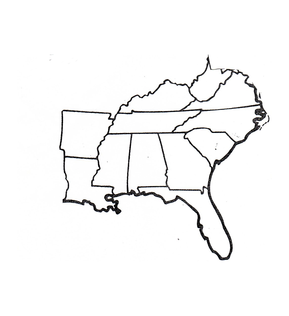 Southeastern Us Map Southeastern United Quotation Templates Word - Us map of southeast