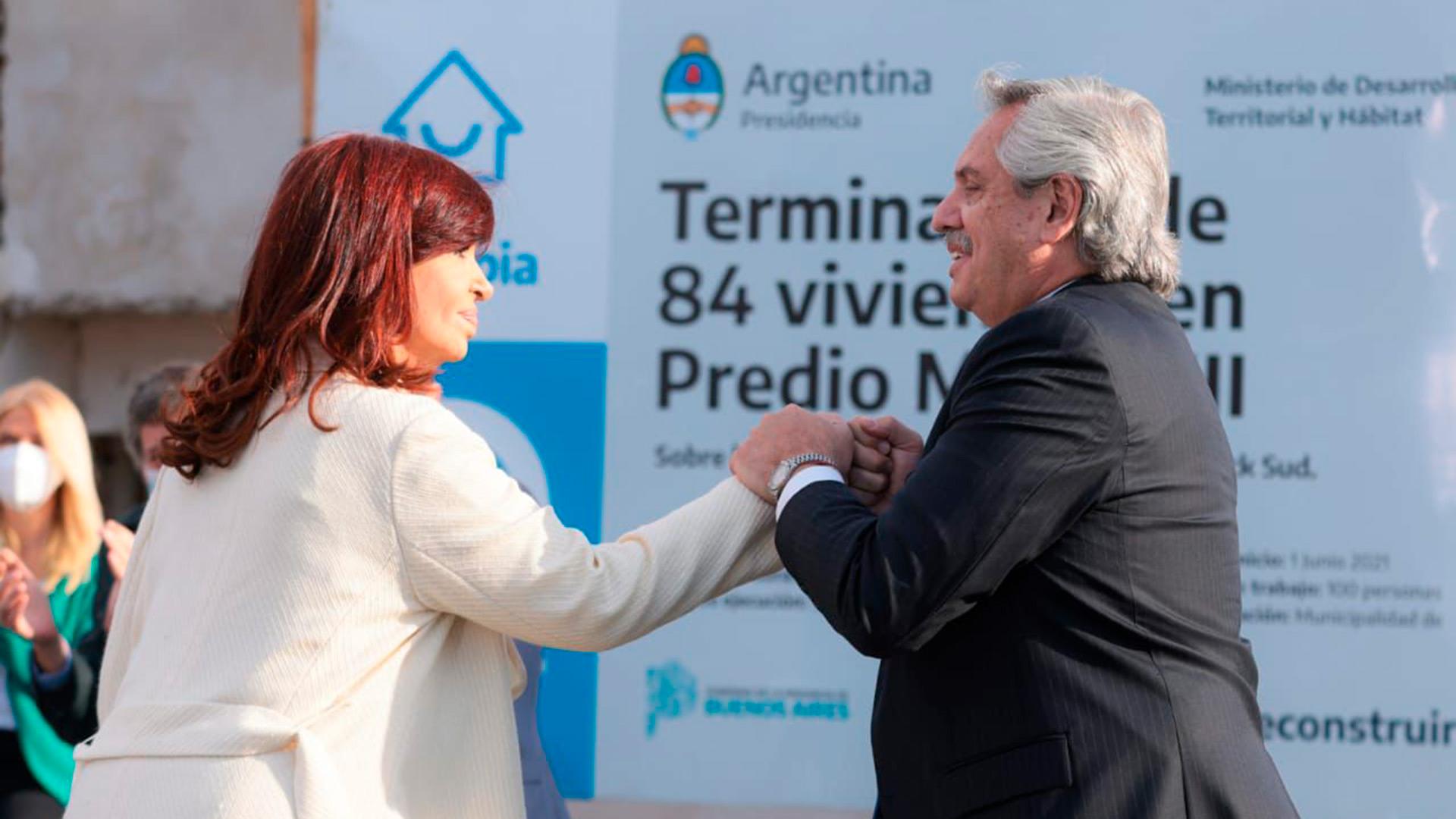 """El apoyo de Cristina Kirchner al Presidente: """"Alberto, tranquilo, poné orden en lo que tengas que poner orden, no te pongas nervioso y metele para adelante"""""""