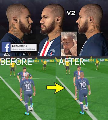 "PES 2017 Neymar Jr ""Bald"" (Latest Hairstyle) by Nanilincol44"