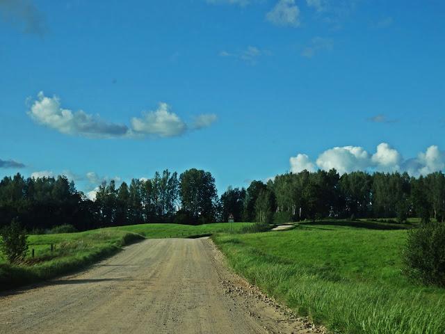 Estonia - krajobraz południowej części kraju (sierpień 2016)