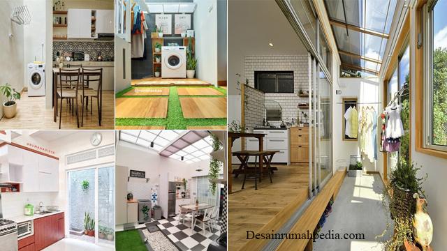 6 Desain Dapur Belakang Rumah Yang Menyatu Dengan Tempat Jemuran Pakaian Desainrumahpedia Com Inspirasi Desain Rumah Minimalis Modern