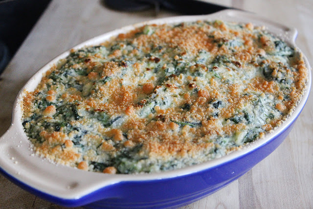 Parmesan-Crusted Creamed Spinach