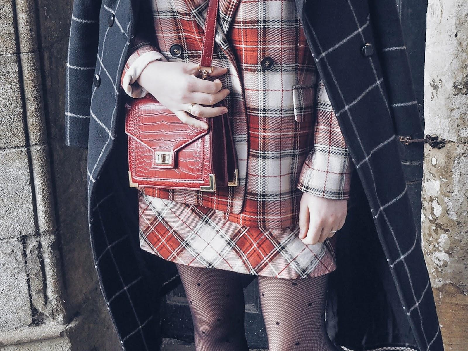 Tartan check suit czyli świąteczna stylizacja i garnitur w kratę