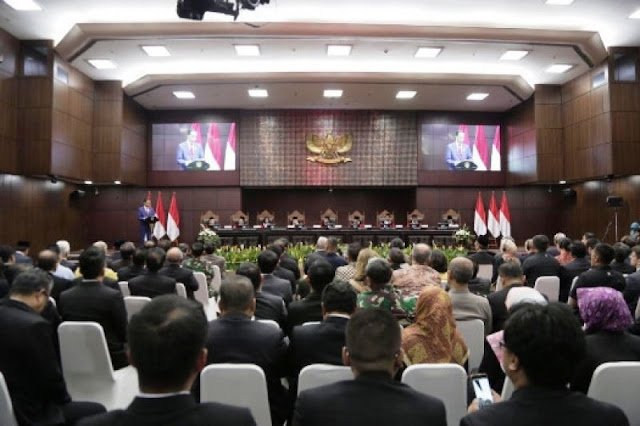 Presiden Joko Widodo Apresiasi Capaian Besar MK Sepanjang Tahun 2019