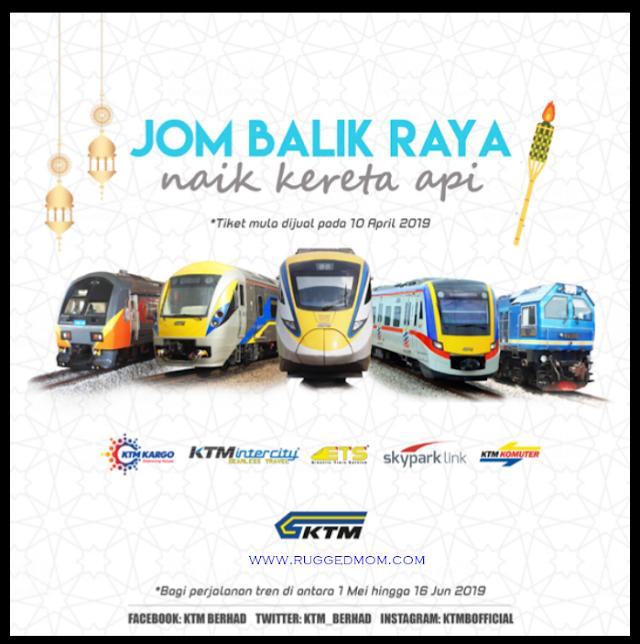 Tiket kereta api KTMB untuk hari raya sudah mula DIJUAL HARI INI