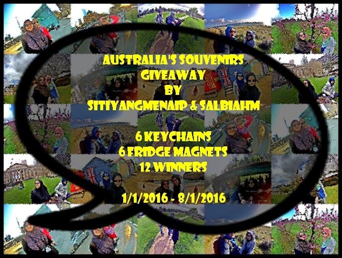 Australia's Souvenirs Giveaway By SitiYangMenaip & SalbiahM