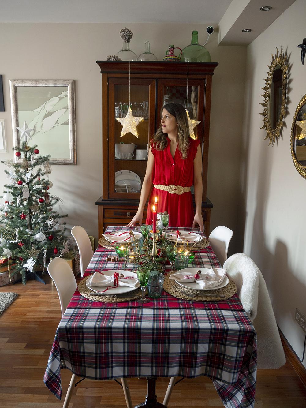 Nuestra mesa navideña en cuadros escoceses16