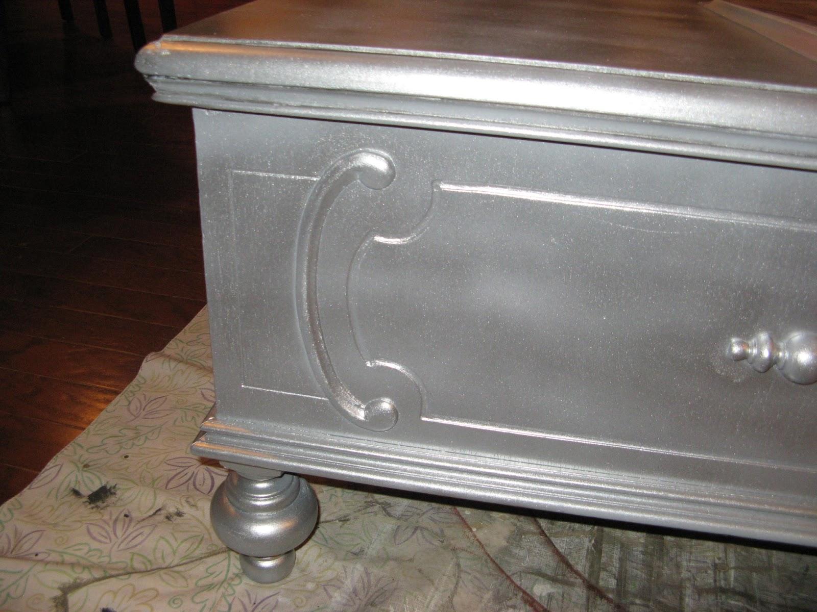 Susan Snyder Antique Silver Paint Finish