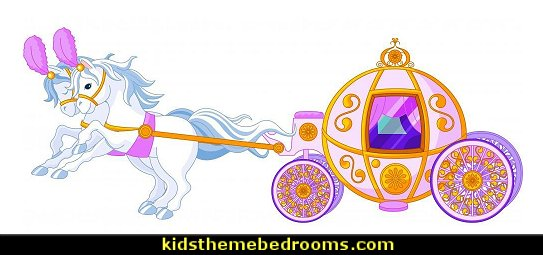 Fairytale Pink Carriage Peel and Stick Wall Decals