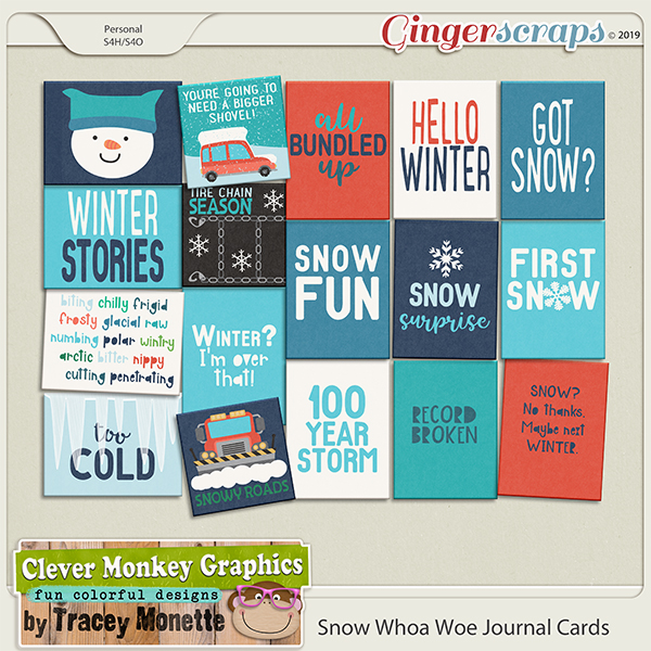 So Much Snow! So much Whoa and so much Woe - Digital Scrapbooking Kit