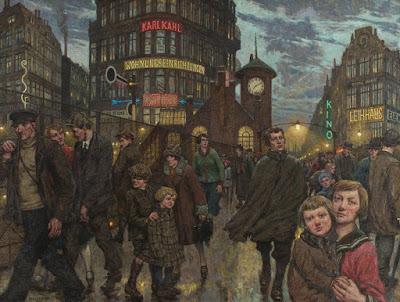 Peintre Hans Baluschek Rue de Berlin 1930