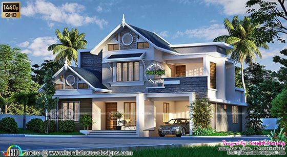 Awesome modern house 3d rendering