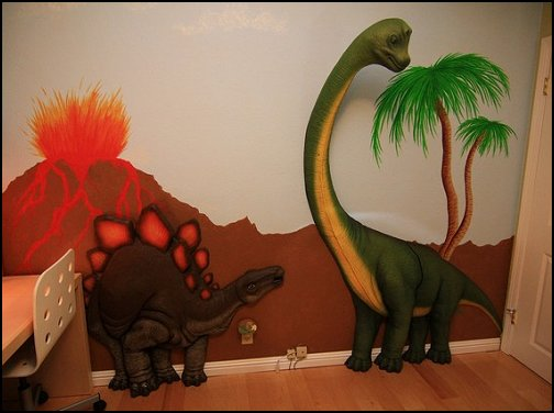 3d jungle animals - 3d trees   dinosaur theme bedrooms - dinosaur decor - decorating bedrooms dinosaur theme - dinosaur room decor - dinosaur wall murals - dinosaur wall decals - life size dinosaur props - dinosaur duvet