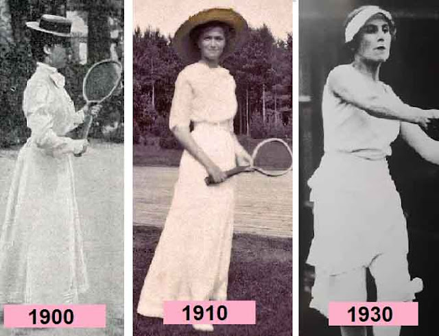 mulheres tenistas em 1910 a 1930