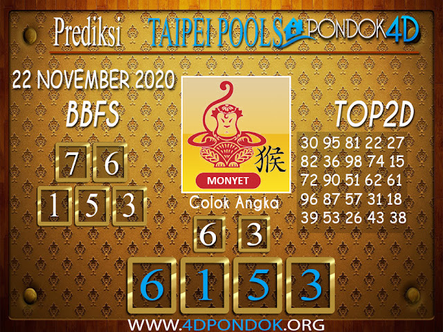Prediksi Togel TAIPEI PONDOK4D 22 NOVEMBER 2020