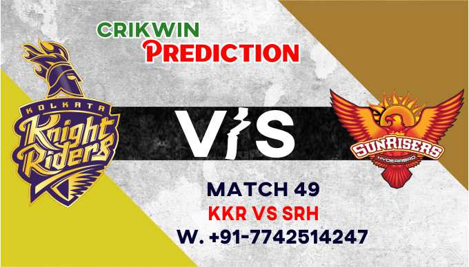 SRH vs KOL IPL T20 49th Match Today 100% Match Prediction Who will win - Cricfrog