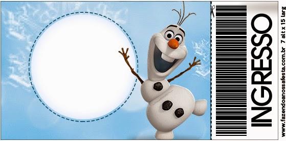 Tarjeta con forma de Ticket de Olaf.