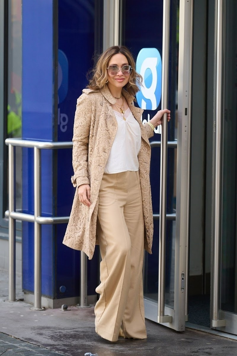 Myleene Klass Spotted at Global Radio in London 9 Apr-2021